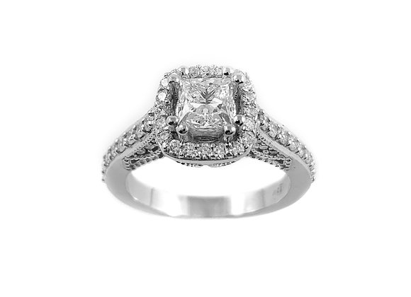 18k 0.71ct diamond ring