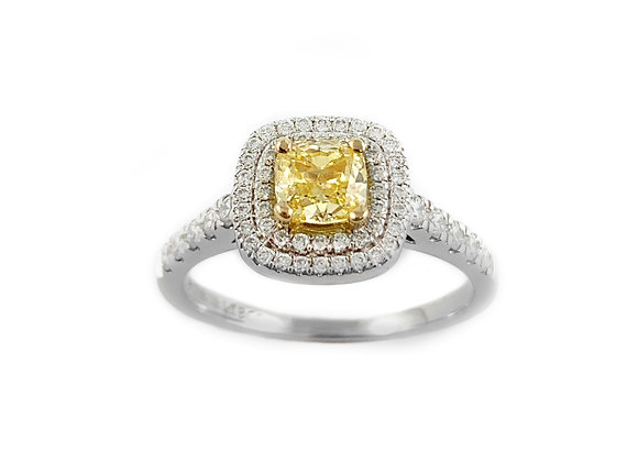 18k 0.57ct yellow diamond ring