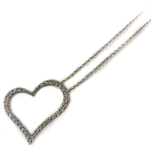 14k 0.50ctw diamond heart pendant