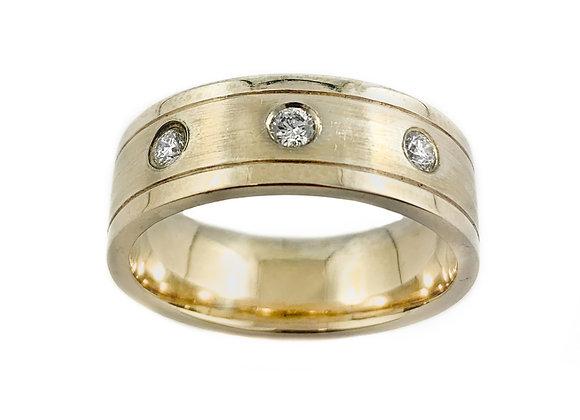 10k 0.21ctw diamond gents ring