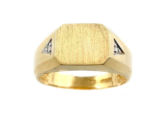 10k signet ring