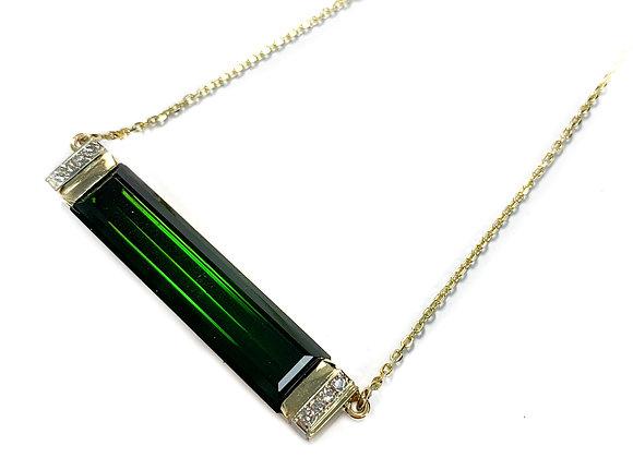14k 16.9ct tourmaline custom pendant