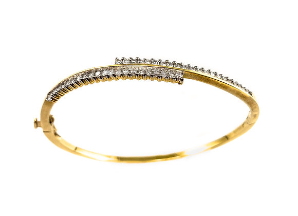 14k 0.34ct diamond bangle
