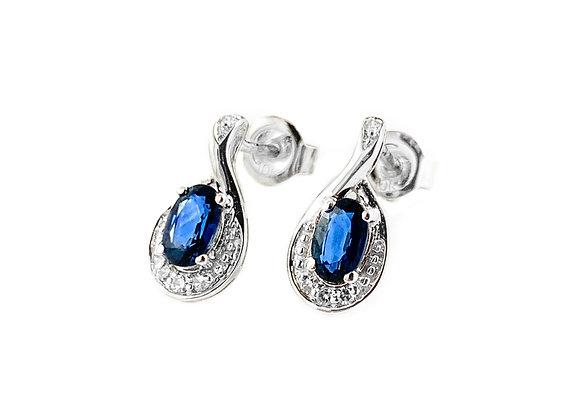 10k sapphire and diamond earrings