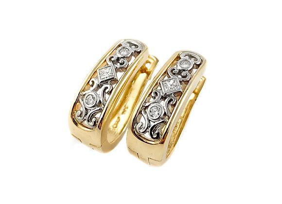 14k 0.21ctw diamond Max Strauss earrings