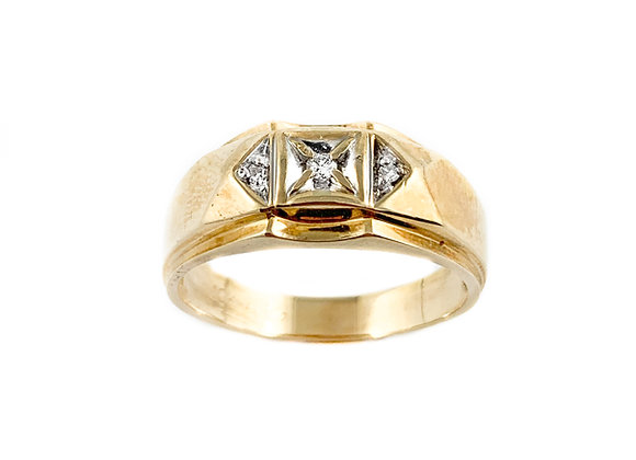 10k estate diamond ring