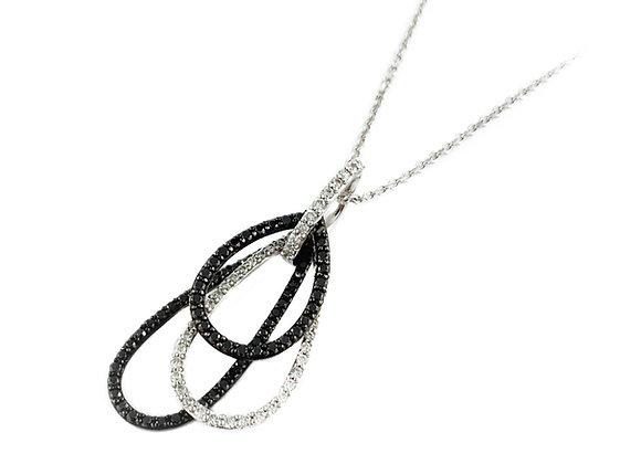 14k 0.32ctw black diamond pendant