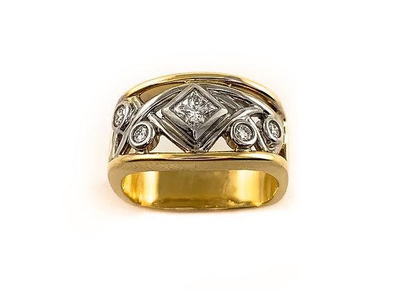 14k 0.40ctw princess cut diamond Max Strauss ring