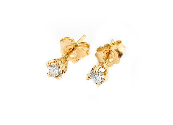 14k 0.22ctw diamond studs