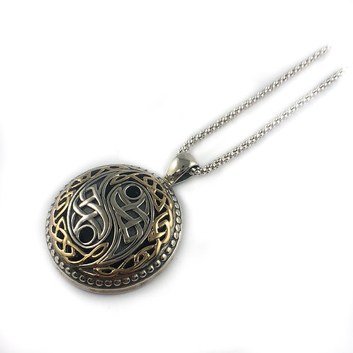 keith jack sterling silver and 10k gold harmony pendant