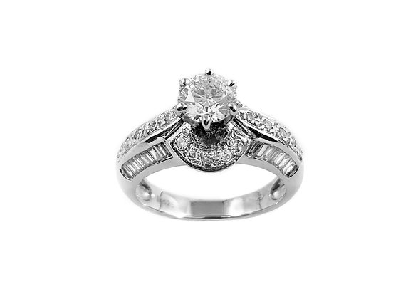 18k 0.64ct diamond ring