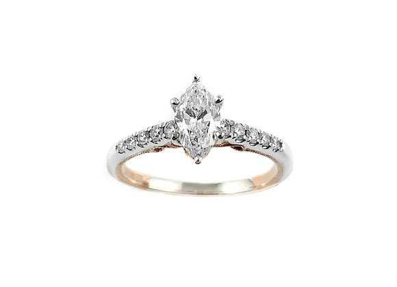 14k 0.61ct diamond ring