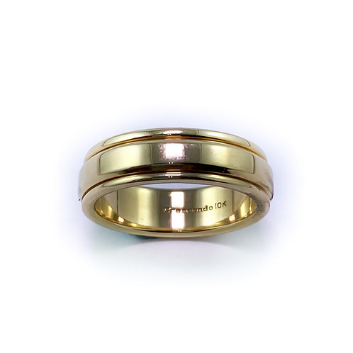 7mm 10k gold band