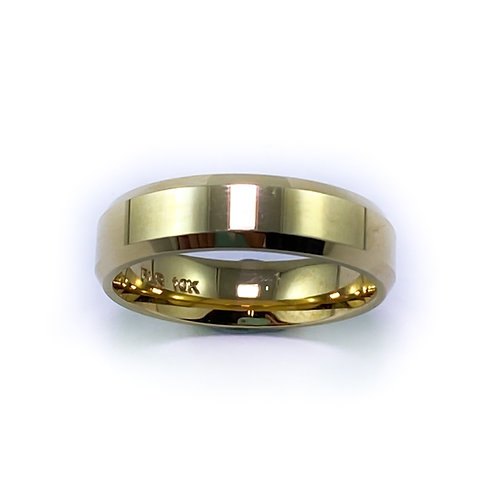 6mm 10k gold band