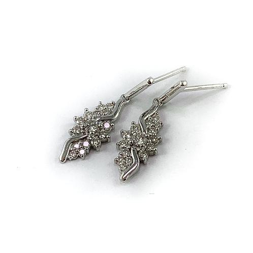 10k .50ctw diamond earrings