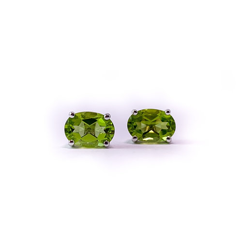 14k peridot earrings