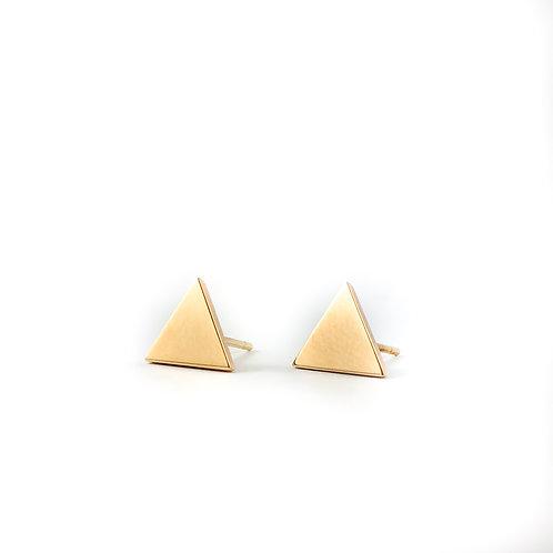 14k triangle earrings