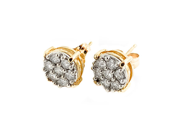 14k estate diamond studs
