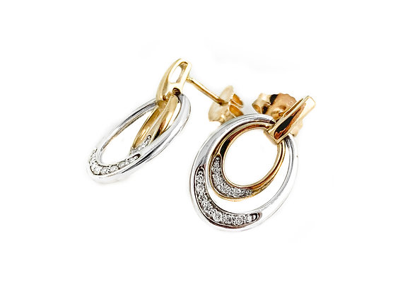 10k 0.10ctw diamond earrings