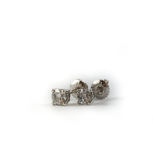 14k 0.40ctw diamond studs