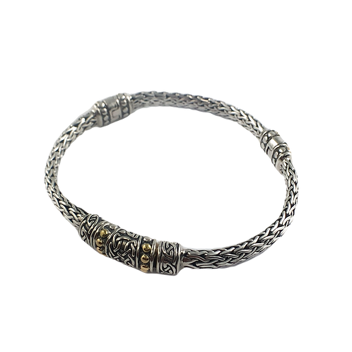 keith jack sterling silver and 18k gold bracelet