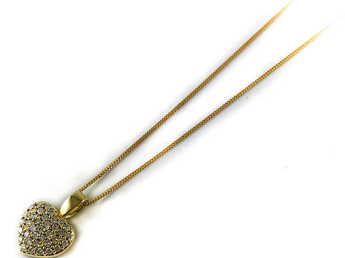 10k 0.18ctw diamond heart necklace