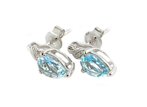 10k aquamarine earrings