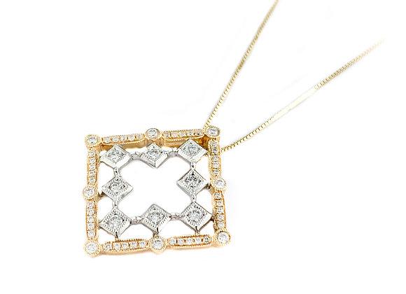 14k 0.42ctw diamond pendant
