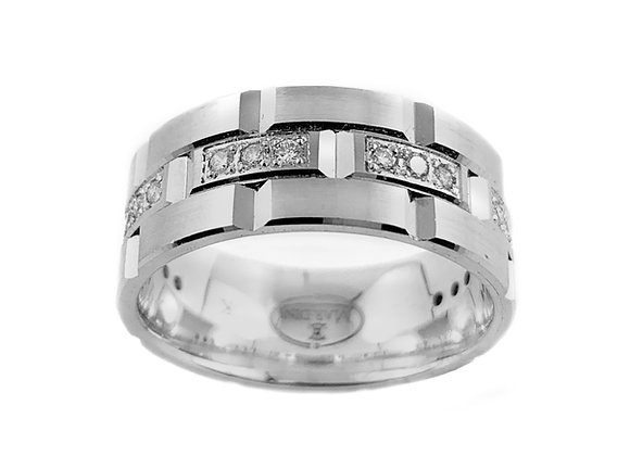 10k 0.27ctw diamond gents ring