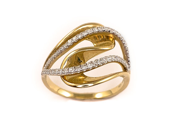 10k 0.21ctw diamond ring