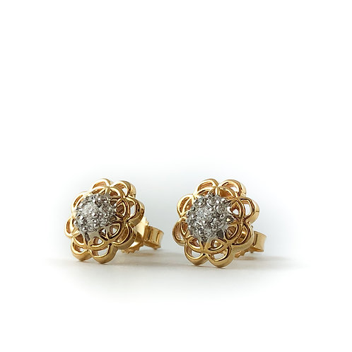 10k Canadian diamond earrings