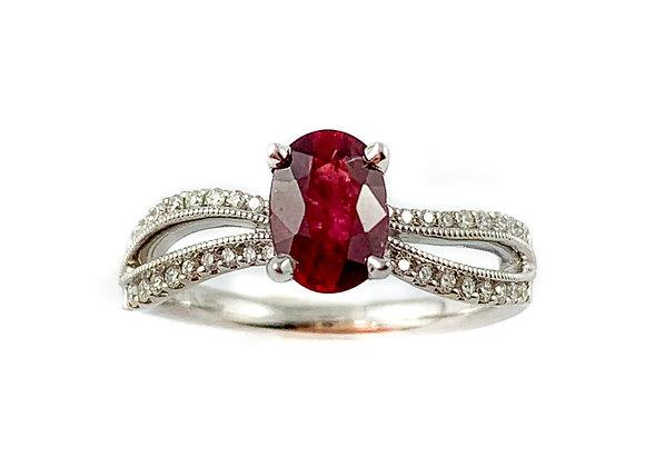 14k 1.12ct ruby ring