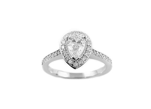 14k 0.50ct pear shape diamond ring