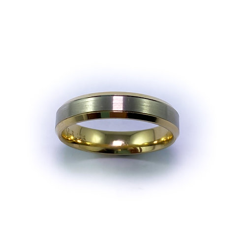 10k two tone gold band