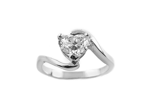 19k 1.06ct diamond ring