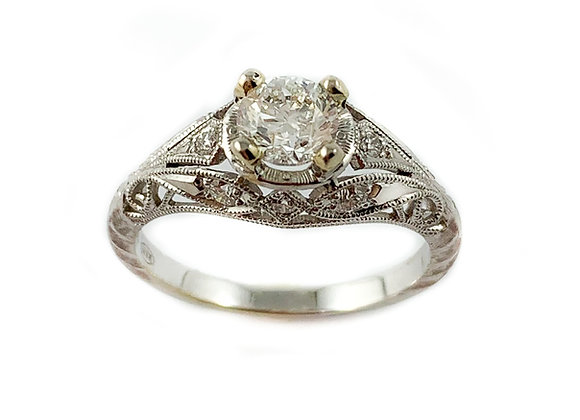 14k .58ctd SI G-H diamond ring