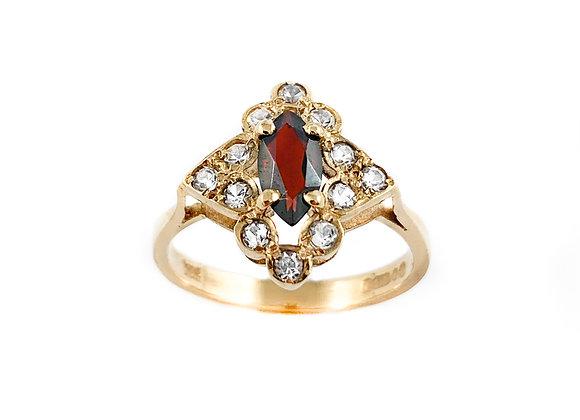 9k garnet estate ring