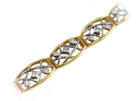 14k 1.02ct diamond bracelet