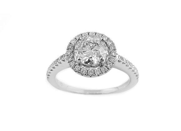 18k 1.05ct diamond ring