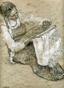 Embroideress