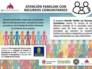 El Plan Integral de Jinámar da continuidad al Programa  Atención Familiar con Recursos Comunitarios.
