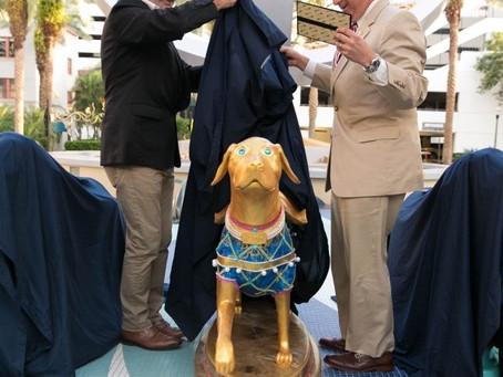 Mayor Rick Kriseman Unveils Southeastern Guide Dogs Sculpture