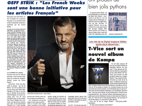 Le Courrier de Floride Interviews Geff For The September Issue