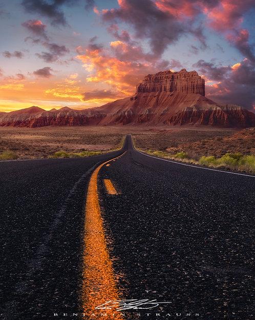 Drive into the Desert Sun