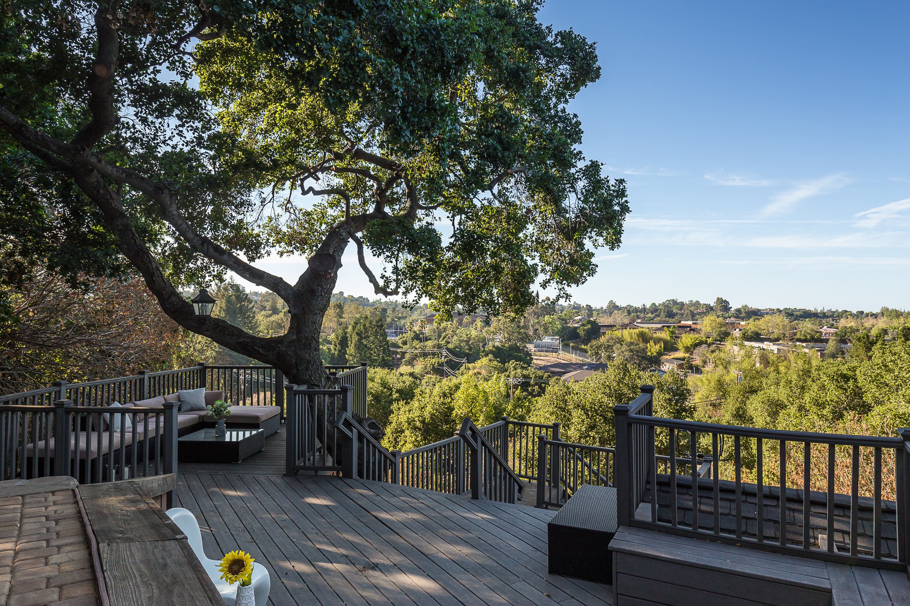 Beautiful deck with expansive view