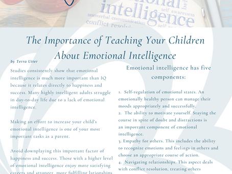 Importance of Teaching Kids Emotional Intelligence