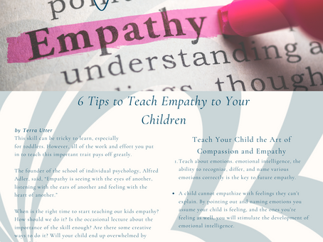 6 Tips to Teaching Empathy
