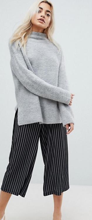 Monochrome Stripped Culottes