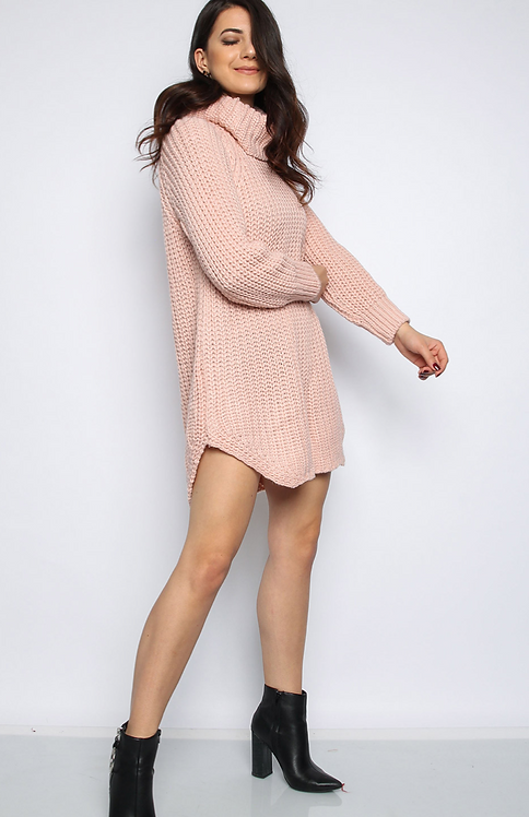 Rose Role Neck Knitted Jumper