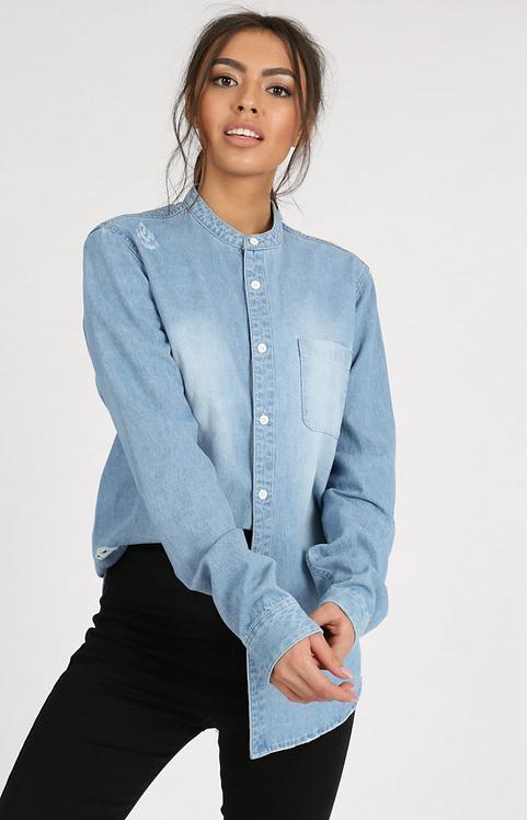 Denim Collar Shirt